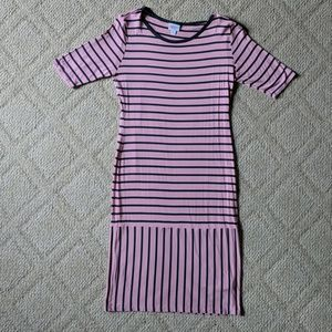 Pink Striped Lularoe Julia